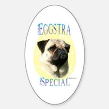 Eggstra Special Pug Oval Decal