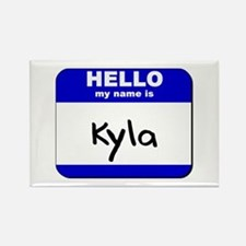 hello my name is kyla Rectangle Magnet