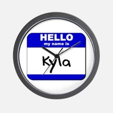 hello my name is kyla  Wall Clock