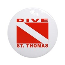 Dive St. Thomas, USVI Ornament (Round)