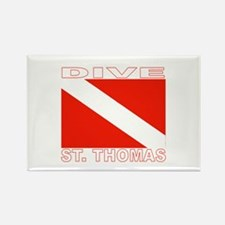 Dive St. Thomas, USVI Rectangle Magnet