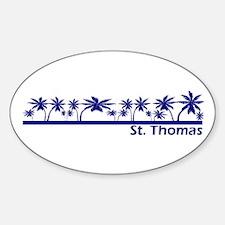 St. Thomas, USVI Oval Decal