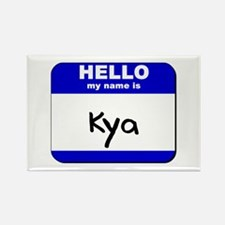 hello my name is kya Rectangle Magnet