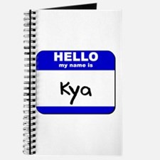 hello my name is kya Journal