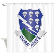 DUI - 1st Bn - 506th Infantry Regt Shower Curtain