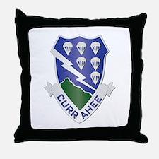 DUI - 1st Bn - 506th Infantry Regt Throw Pillow