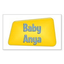 Baby Anya Rectangle Decal