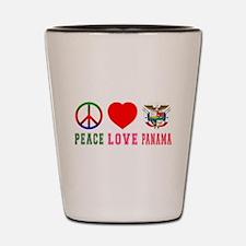 Peace Love Panama Shot Glass