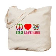 Peace Love Panama Tote Bag