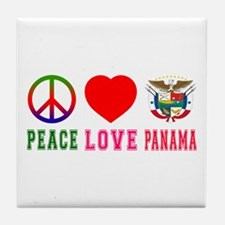 Peace Love Panama Tile Coaster