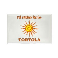 I'd Rather Be In Tortola Rectangle Magnet