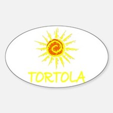 Tortola Oval Decal