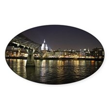 London St. Pauls by Thames Night Decal