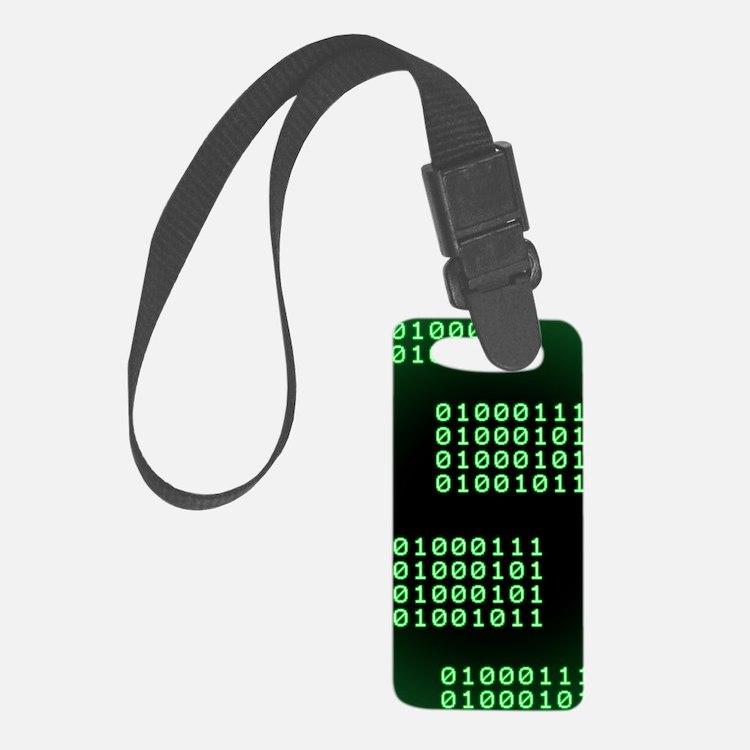 Binary code for GEEK Luggage Tag