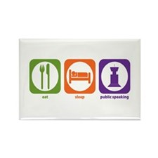 Eat Sleep Public Speaking Rectangle Magnet