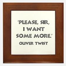Oliver Twist Quote Framed Tile