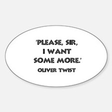 Oliver Twist Quote Oval Decal