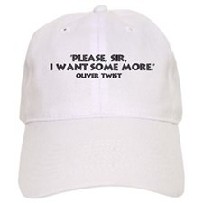 Oliver Twist Quote Baseball Cap
