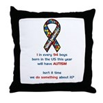 1 in 94 Autism Throw Pillow