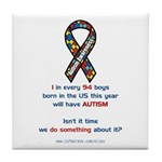 1 in 94 Autism Tile Coaster