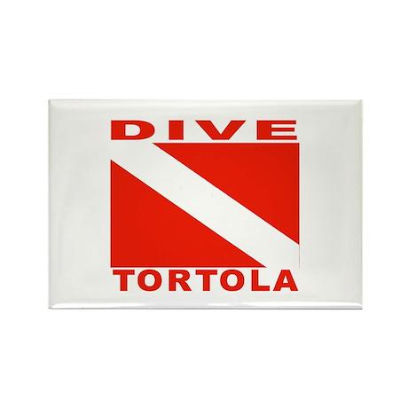 Dive Tortola Rectangle Magnet (100 pack)