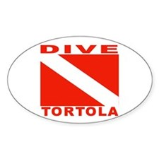 Dive Tortola Oval Decal