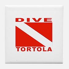 Dive Tortola Tile Coaster