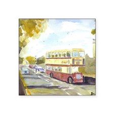 "Dreadnought Coaches Bristol Square Sticker 3"" x 3"""