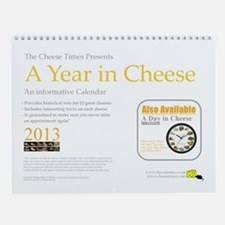A Year in Cheese Wall Calendar