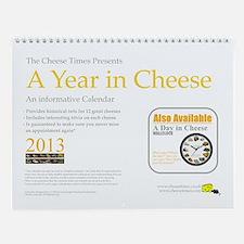 A Year in Cheese Wall Calendar
