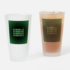 Binary code for GEEK Drinking Glass