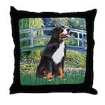Bridge & Bernese Throw Pillow