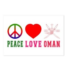 Peace Love Oman Postcards (Package of 8)