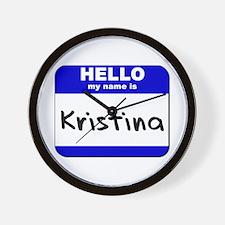 hello my name is kristina  Wall Clock