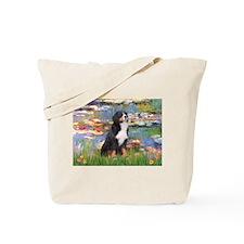 Lilies & Bernese Tote Bag