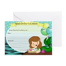 Mermaid Splash Invitation Greeting Card