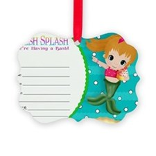 Blond Cupcake Mermaid Invite Ornament