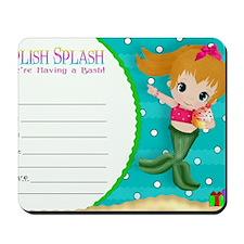 Blond Cupcake Mermaid Invite Mousepad