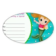 Blond Cupcake Mermaid Invite Decal