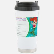 RedHead Mermaid Invite Travel Mug