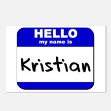 hello my name is kristian  Postcards (Package of 8