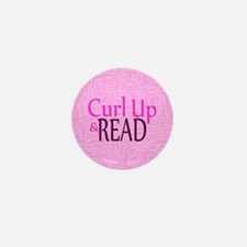 Curl Up and Read Pink Mini Button (100 pack)