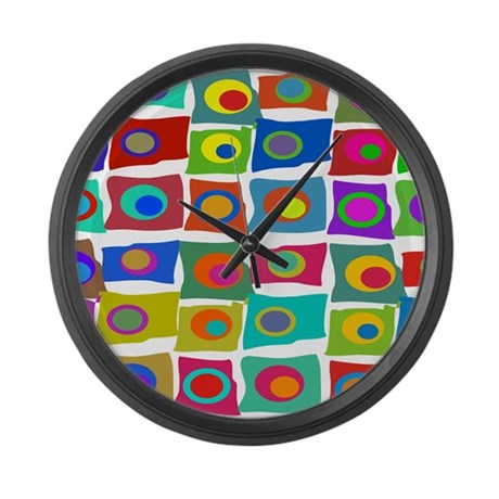 Mcm Funky Squares Large Wall Clock By Admin Cp11157433
