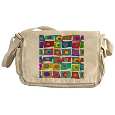 MCM Funky Squares Messenger Bag