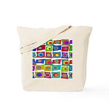 MCM Funky Squares Tote Bag