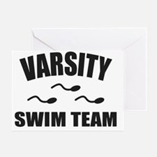 Varsity Swim Team Greeting Card