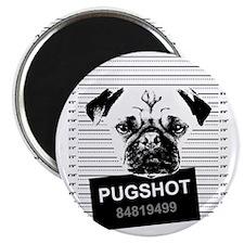 Pugshot - Pug - Funny Dog Shirt Magnet