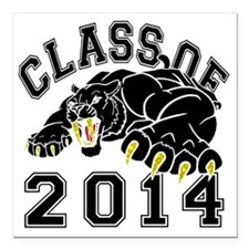 """Class Of 2014 Saber-Toot Square Car Magnet 3"""" x 3"""""""