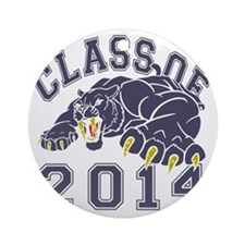 Class Of 2014 Saber-Tooth Tiger Round Ornament