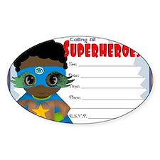 African American Boy Superhero Invi Decal
